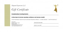 Eloquent Expression Coaching certificate